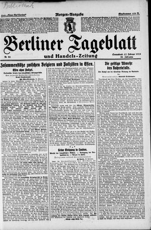 Berliner Tageblatt und Handels-Zeitung vom 17.02.1923