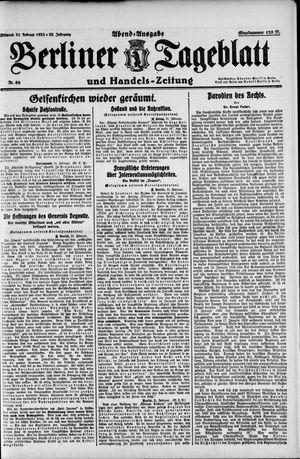 Berliner Tageblatt und Handels-Zeitung vom 21.02.1923