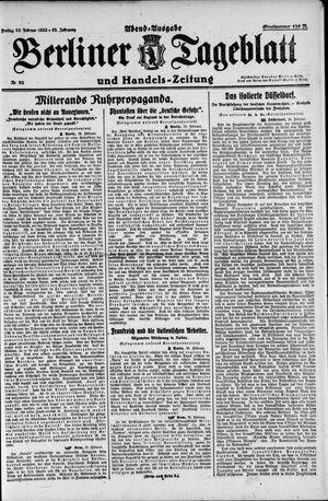 Berliner Tageblatt und Handels-Zeitung vom 23.02.1923