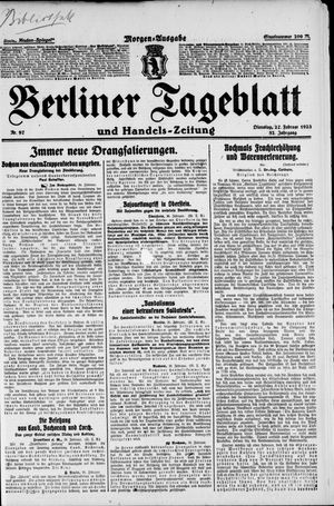 Berliner Tageblatt und Handels-Zeitung on Feb 27, 1923