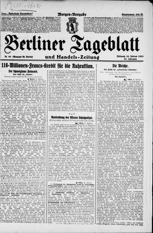Berliner Tageblatt und Handels-Zeitung vom 28.02.1923