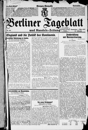 Berliner Tageblatt und Handels-Zeitung vom 01.03.1923