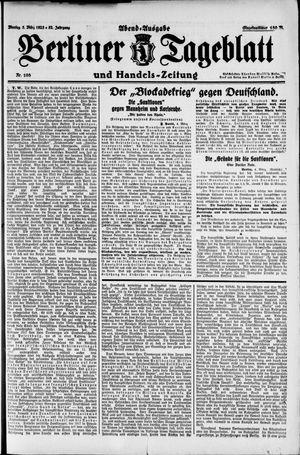 Berliner Tageblatt und Handels-Zeitung vom 05.03.1923
