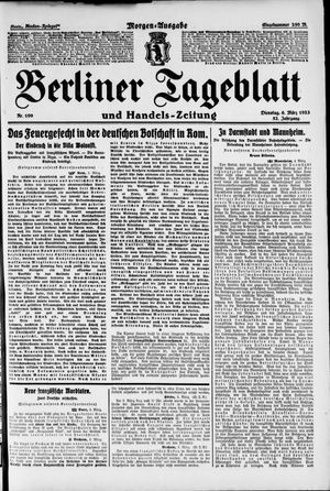 Berliner Tageblatt und Handels-Zeitung vom 06.03.1923