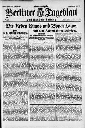 Berliner Tageblatt und Handels-Zeitung vom 07.03.1923