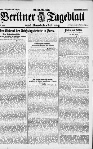Berliner Tageblatt und Handels-Zeitung on Mar 8, 1923