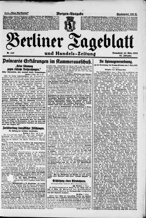 Berliner Tageblatt und Handels-Zeitung vom 10.03.1923