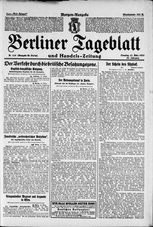 Berliner Tageblatt und Handels-Zeitung vom 11.03.1923