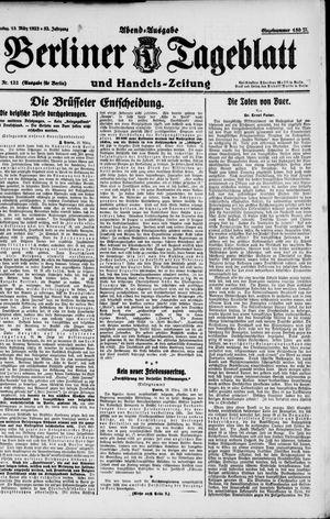 Berliner Tageblatt und Handels-Zeitung vom 13.03.1923