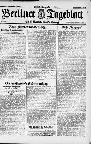 Berliner Tageblatt und Handels-Zeitung vom 15.03.1923