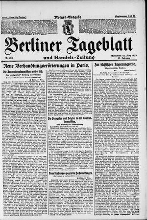 Berliner Tageblatt und Handels-Zeitung vom 17.03.1923