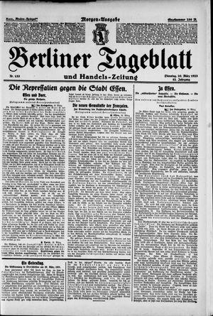 Berliner Tageblatt und Handels-Zeitung vom 20.03.1923