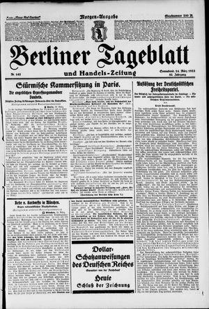 Berliner Tageblatt und Handels-Zeitung vom 24.03.1923
