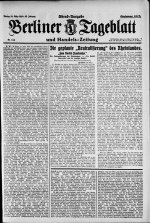 Berliner Tageblatt und Handels-Zeitung vom 26.03.1923