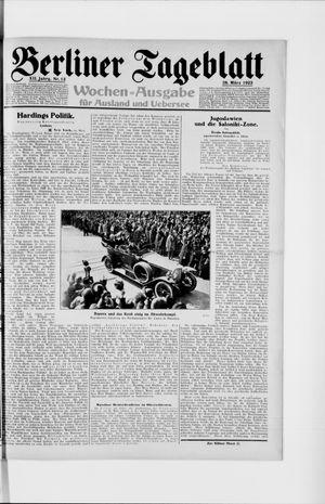 Berliner Tageblatt und Handels-Zeitung vom 28.03.1923