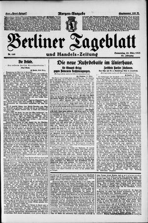 Berliner Tageblatt und Handels-Zeitung vom 29.03.1923