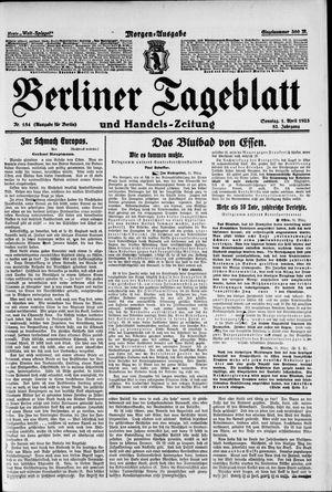 Berliner Tageblatt und Handels-Zeitung vom 01.04.1923