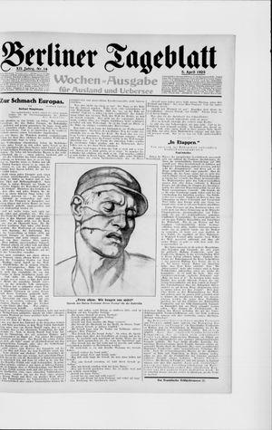 Berliner Tageblatt und Handels-Zeitung on Apr 5, 1923