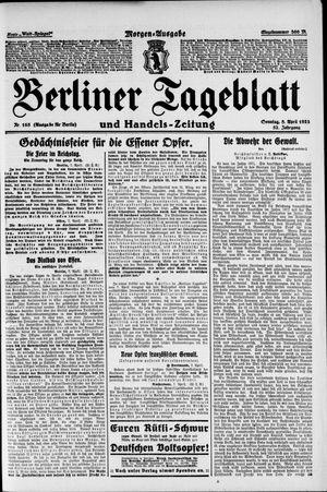 Berliner Tageblatt und Handels-Zeitung vom 08.04.1923
