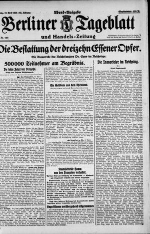 Berliner Tageblatt und Handels-Zeitung vom 10.04.1923