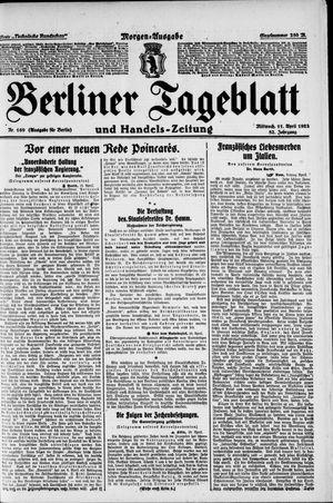 Berliner Tageblatt und Handels-Zeitung vom 11.04.1923