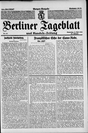Berliner Tageblatt und Handels-Zeitung vom 12.04.1923