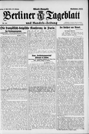 Berliner Tageblatt und Handels-Zeitung vom 13.04.1923