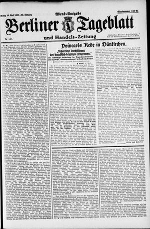 Berliner Tageblatt und Handels-Zeitung vom 16.04.1923