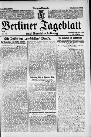 Berliner Tageblatt und Handels-Zeitung vom 19.04.1923