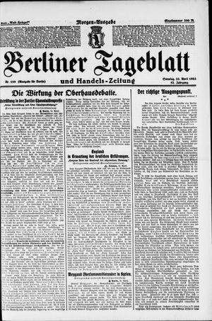 Berliner Tageblatt und Handels-Zeitung vom 22.04.1923