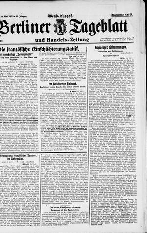 Berliner Tageblatt und Handels-Zeitung vom 26.04.1923
