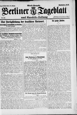 Berliner Tageblatt und Handels-Zeitung vom 28.04.1923