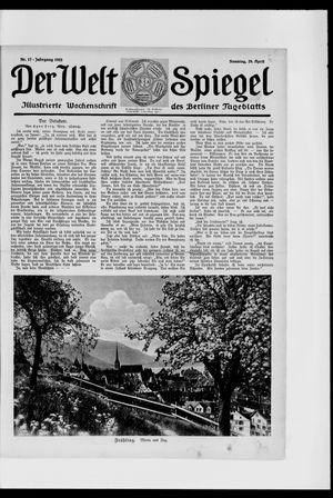 Berliner Tageblatt und Handels-Zeitung vom 29.04.1923