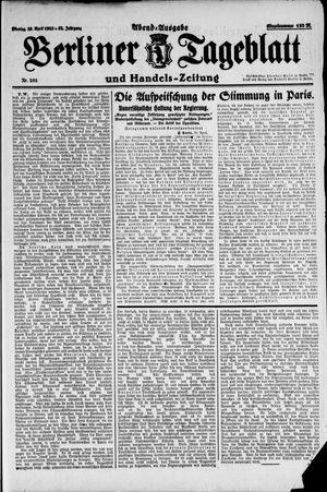 Berliner Tageblatt und Handels-Zeitung vom 30.04.1923
