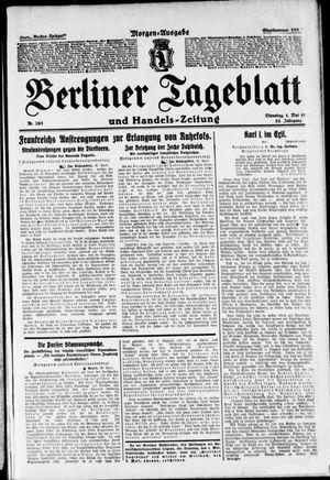Berliner Tageblatt und Handels-Zeitung vom 01.05.1923