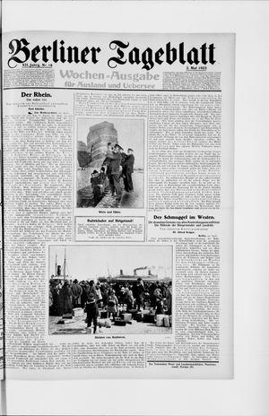 Berliner Tageblatt und Handels-Zeitung vom 02.05.1923