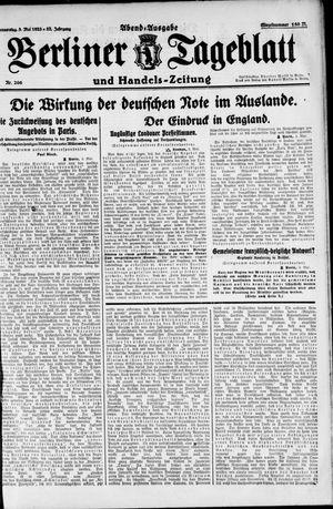 Berliner Tageblatt und Handels-Zeitung vom 03.05.1923