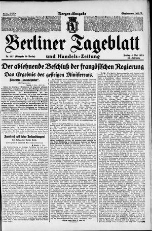 Berliner Tageblatt und Handels-Zeitung vom 04.05.1923