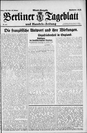Berliner Tageblatt und Handels-Zeitung vom 07.05.1923