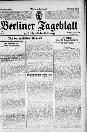 Berliner Tageblatt und Handels-Zeitung vom 08.05.1923