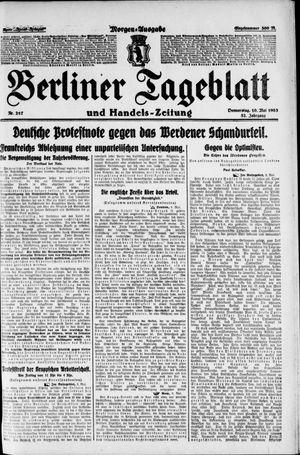 Berliner Tageblatt und Handels-Zeitung vom 10.05.1923