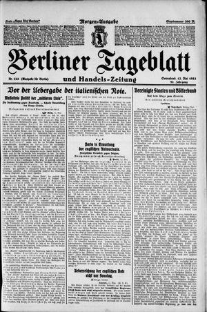 Berliner Tageblatt und Handels-Zeitung on May 12, 1923