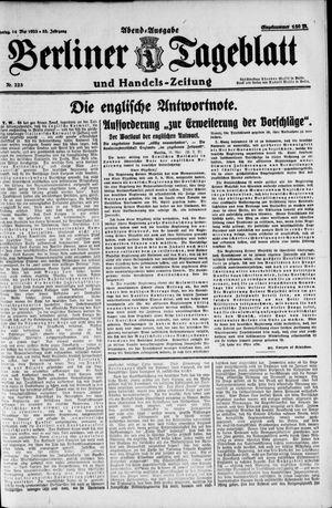 Berliner Tageblatt und Handels-Zeitung vom 14.05.1923