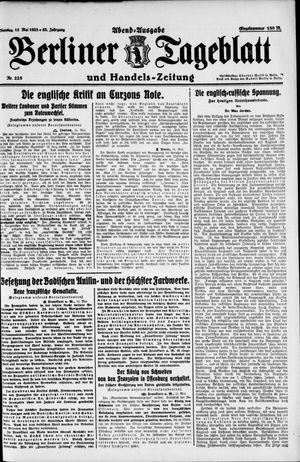 Berliner Tageblatt und Handels-Zeitung vom 15.05.1923