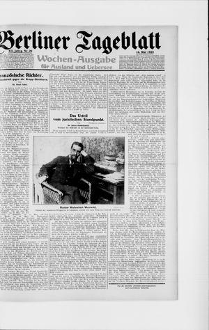 Berliner Tageblatt und Handels-Zeitung vom 16.05.1923