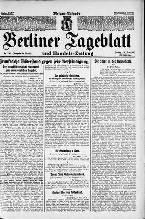 Berliner Tageblatt und Handels-Zeitung vom 18.05.1923
