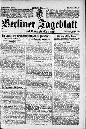 Berliner Tageblatt und Handels-Zeitung vom 19.05.1923