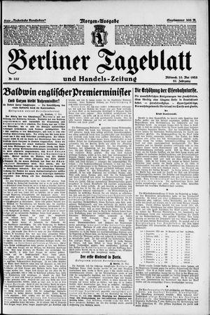 Berliner Tageblatt und Handels-Zeitung vom 23.05.1923