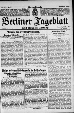 Berliner Tageblatt und Handels-Zeitung vom 24.05.1923