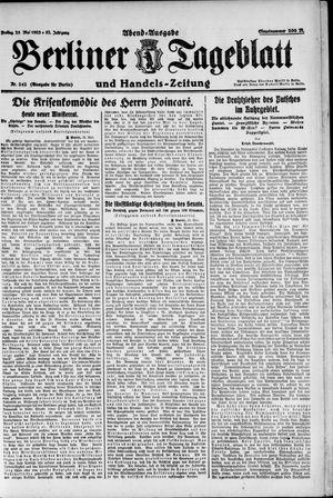 Berliner Tageblatt und Handels-Zeitung vom 25.05.1923
